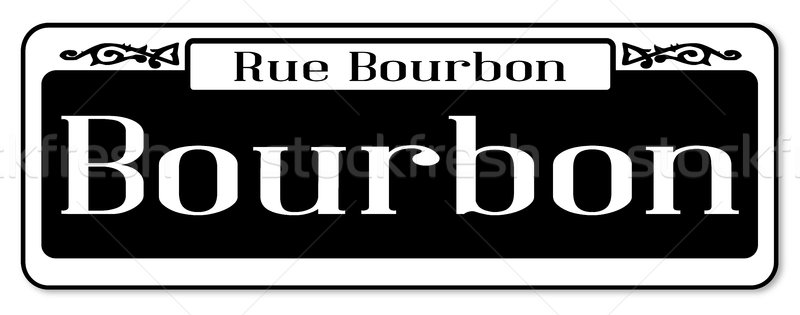 Rue Bourbon Street Sign Stock photo © Bigalbaloo