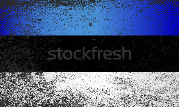 Flag of Estonia Grunge Stock photo © Bigalbaloo