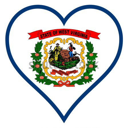 West Virginia State Flag Oval Button Stock photo © Bigalbaloo
