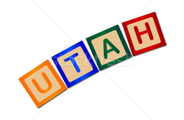 Utah cartas colección ortografía blanco Foto stock © Bigalbaloo