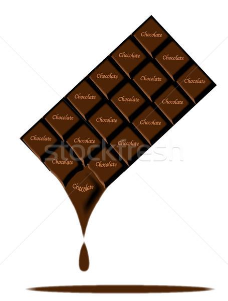 Cioccolato fondente bar tipico latte candy Foto d'archivio © Bigalbaloo