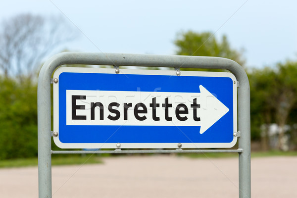 Danish one-way road sign Stock photo © bigandt
