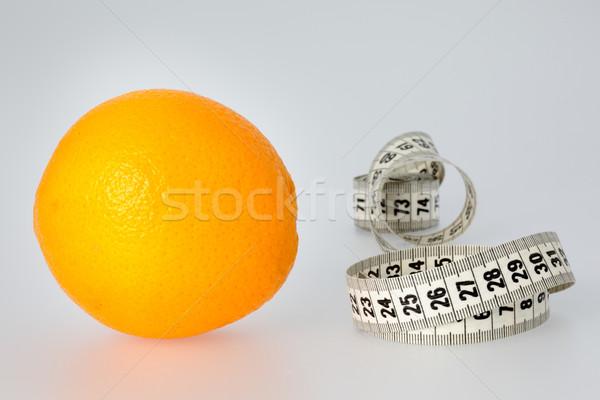 Orange and Tape Measure Stock photo © bigandt