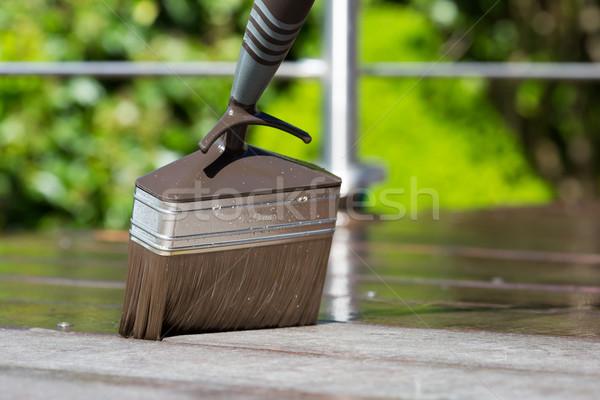 Brush on terrace Stock photo © bigandt