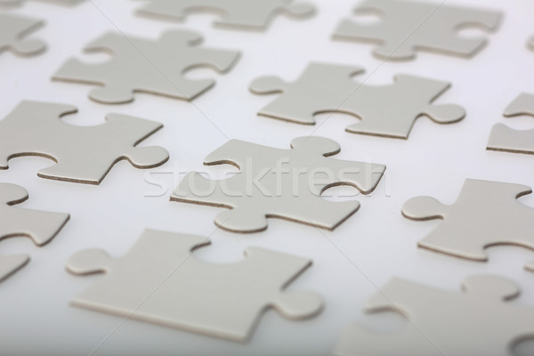 Neatly Aligned Jigsaw Puzzle Pieces Stock photo © bigandt