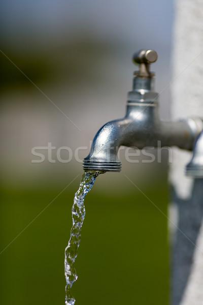 Watertap water buitenshuis metaal Stockfoto © bigandt