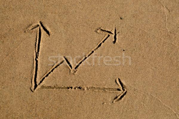Vonal diagram rajzolt homok lezser rajz Stock fotó © bigandt