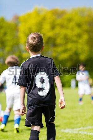 Ragazzo calcio match giovani calciatore indietro Foto d'archivio © bigandt