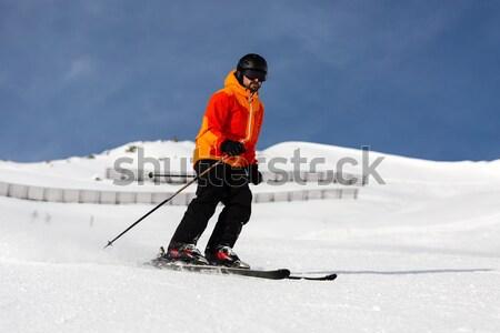 男性 スキーヤー ダウン 自然 雪 ストックフォト © bigandt