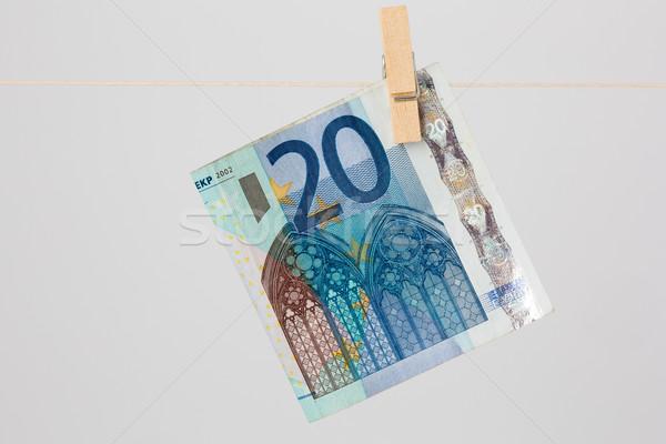 Vinte euro 20 projeto de lei anexada Foto stock © bigandt