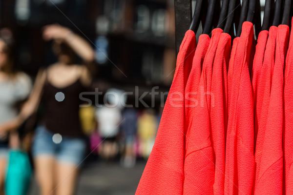 Színes kívül ruházat bolt utca nyár Stock fotó © bigandt