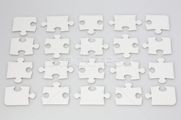 Kirakós játék darabok összes fehér űr szín Stock fotó © bigandt