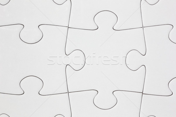 Blank Jigsaw Puzzle Close-up Stock photo © bigandt
