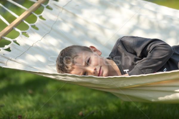 Boy in hammock Stock photo © bigandt