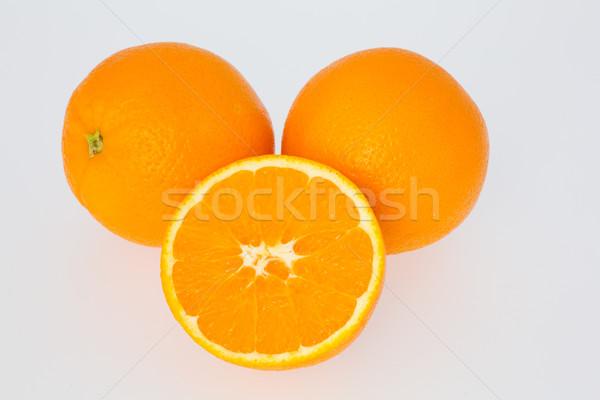 Stockfoto: Gesneden · oranje · twee · sinaasappelen · half · oranje · vruchten