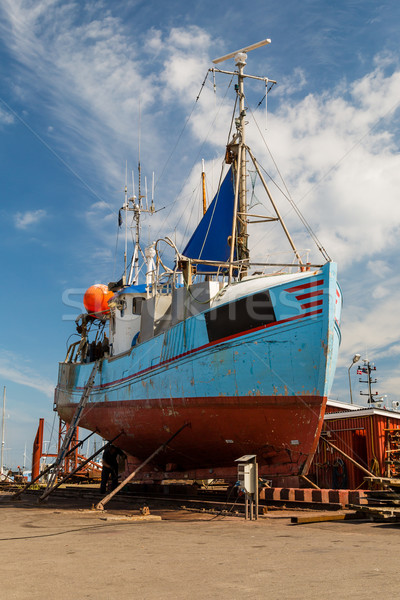 Fishing vessel in dock Stock photo © bigandt