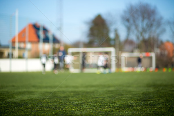 Blurred soccer pitch Stock photo © bigandt