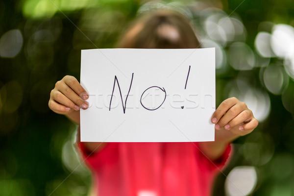девушки нет знак расплывчатый кусок Сток-фото © bigandt
