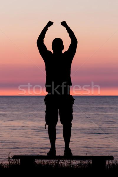 Man celebrating a huge achievement Stock photo © bigandt