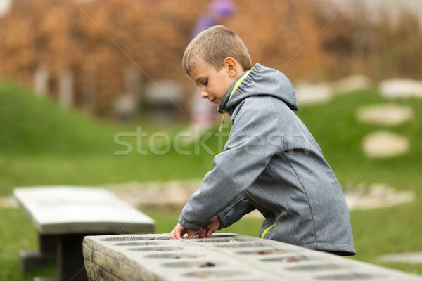 Ragazzo giocare giovani esterna primavera Foto d'archivio © bigandt