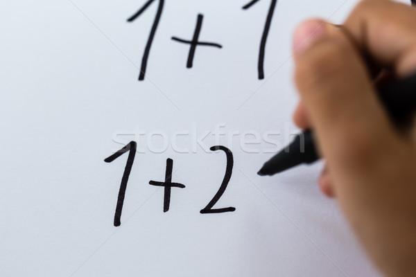 Simple math Stock photo © bigandt