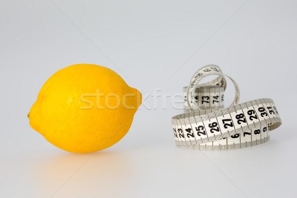 Lemon and Tape Measure Stock photo © bigandt