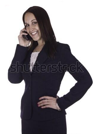 деловой женщины говорить телефон телефон деловые люди говорить Сток-фото © bigjohn36