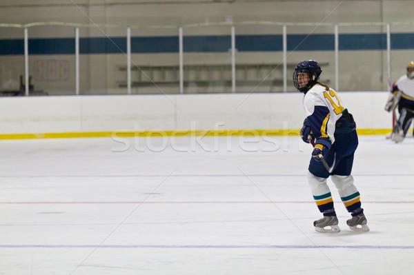 Hockey donna giocatore salute inverno Foto d'archivio © bigjohn36