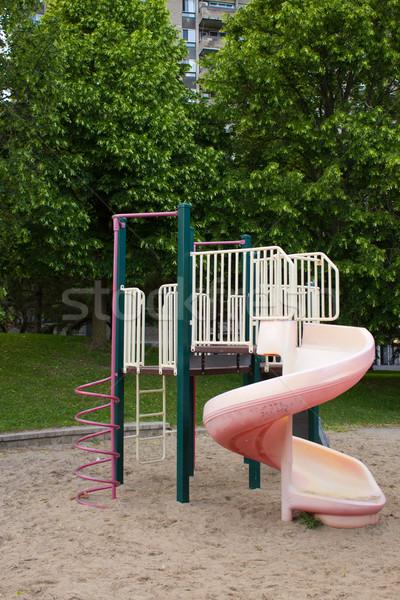 再生 構造 公園 子供 春 木 ストックフォト © bigjohn36