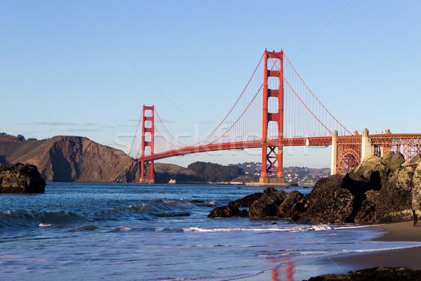 ゴールデンゲートブリッジ ビーチ 水 海 金属 海 ストックフォト © bigjohn36