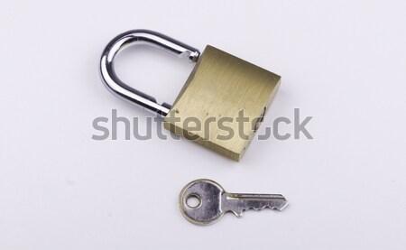 Key and Open Padlock Stock photo © bigjohn36