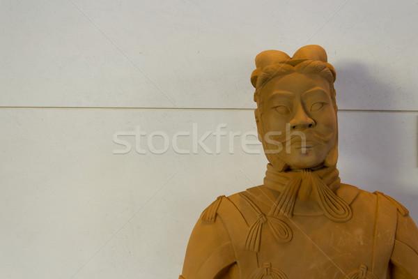 китайский статуя лице антикварная культура Сток-фото © bigjohn36