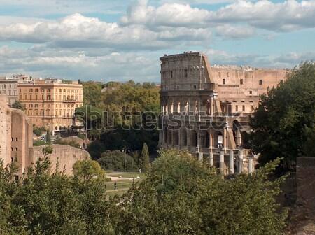 Рим Италия кафе руин древних туризма Сток-фото © bigjohn36