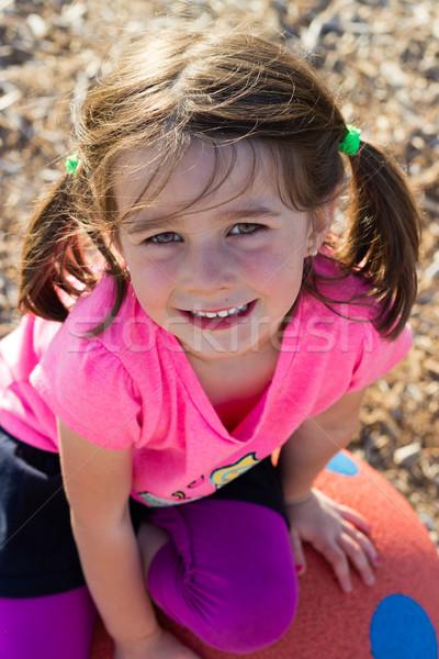 Cute девочку счастливым человек улыбаясь радости Сток-фото © bigjohn36