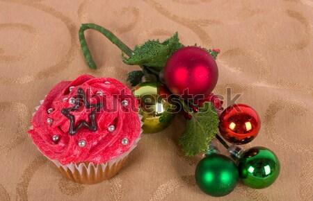 рождественская елка орнамент зима звездой подарок Сток-фото © bigjohn36