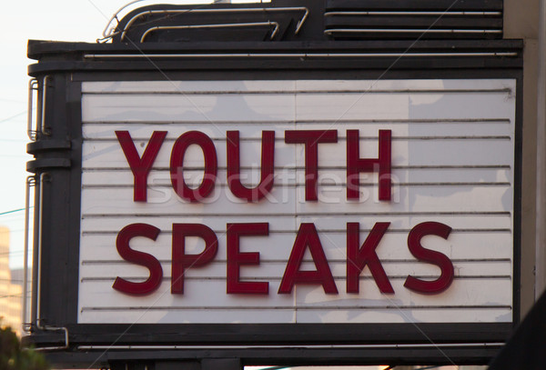 Youth speaks marquee Stock photo © bigjohn36