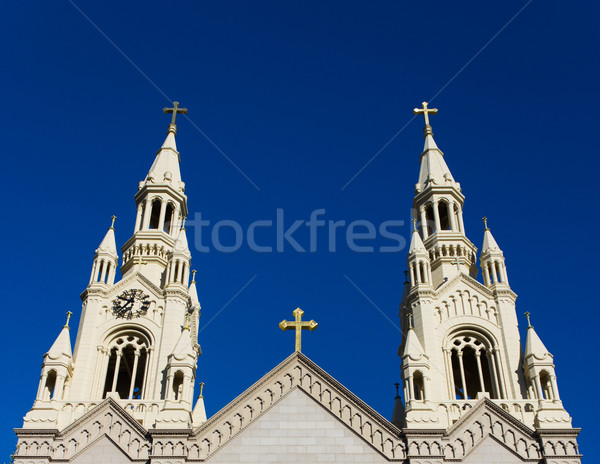 Spires of Saints Peter and Paul Church Stock photo © bigjohn36