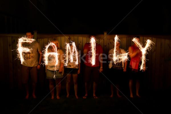 слово семьи время фотографии огня лет Сток-фото © bigjohn36