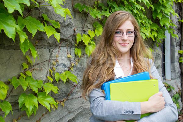 школьница книгах кампус девушки школы женщину Сток-фото © bigjohn36