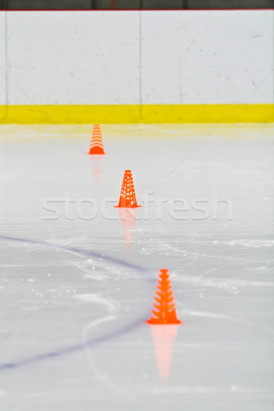 Pylons on the ice in an arena Stock photo © bigjohn36