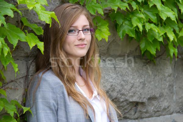 портрет студент здании кампус женщину образование Сток-фото © bigjohn36