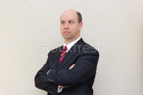 портрет деловой человек бизнеса бизнесмен костюм корпоративного Сток-фото © bigjohn36