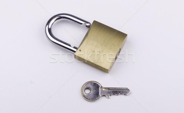 南京錠 キー ロック 鋼 強い 安全 ストックフォト © bigjohn36