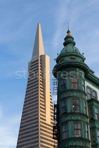 San Francisco Icons Transamerica Pyramid and the Columbus Buildi Stock photo © bigjohn36