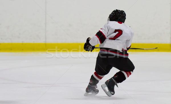 Gyermek játszik jégkorong gyerekek sport fitnessz Stock fotó © bigjohn36
