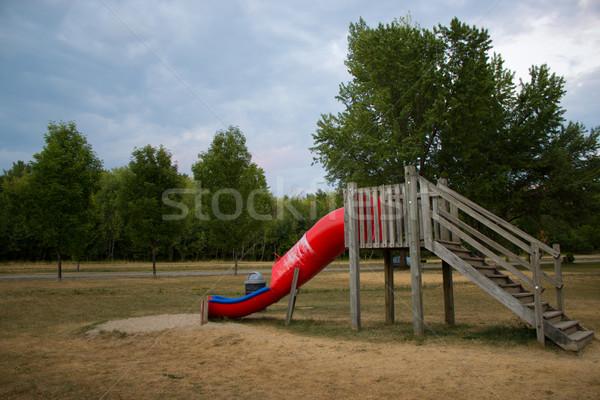 Speeltuin structuur jungle gymnasium speelgoed spel Stockfoto © bigjohn36