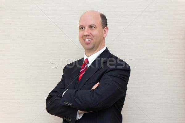 портрет улыбаясь деловой человек бизнеса улыбка бизнесмен Сток-фото © bigjohn36