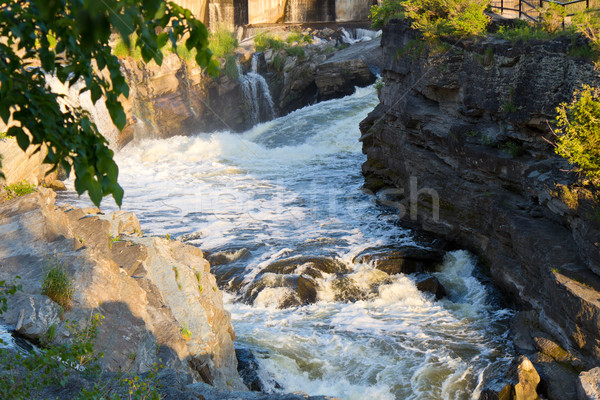 Fast flowing water in rapids Stock photo © bigjohn36