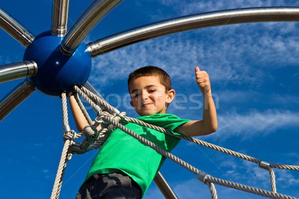 ребенка играет играть структуры парка мальчика Сток-фото © bigjohn36