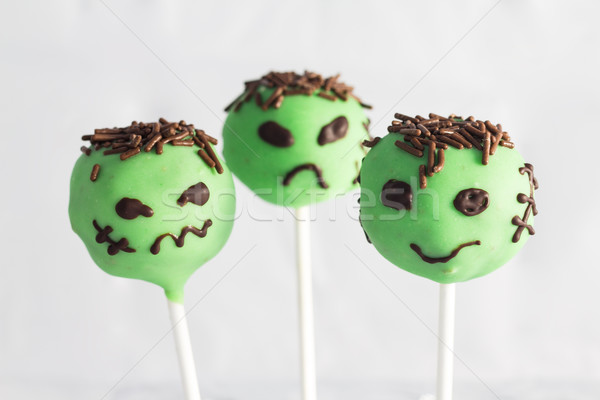 Halloween cake pops Stock photo © BigKnell